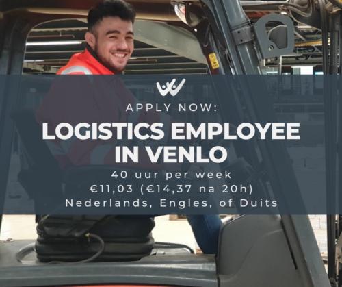 logistics employee in venlo vacancy