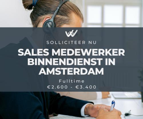 sales medewerker binnendienst in amsterdam